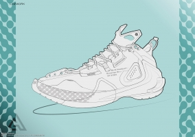 Basketball Shoe By Michele Frau