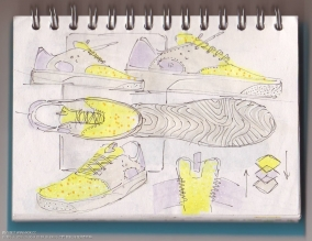 Footwear sketches By Philip Sidorowicz